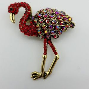 Colorful Flamingo Brooch NWT